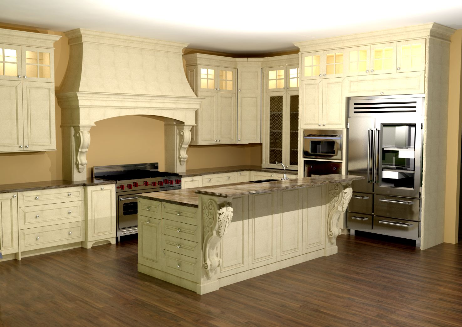 Large Kitchen Island Corbels