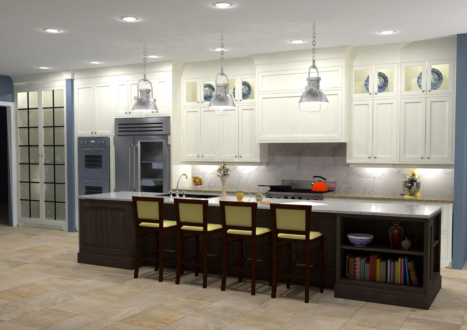 two tone white enamel walnut kitchen nick miller design. Black Bedroom Furniture Sets. Home Design Ideas
