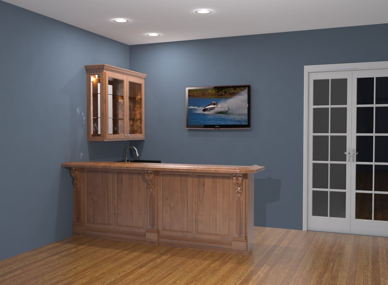 Home Bar Design Rendering Nick Miller Design